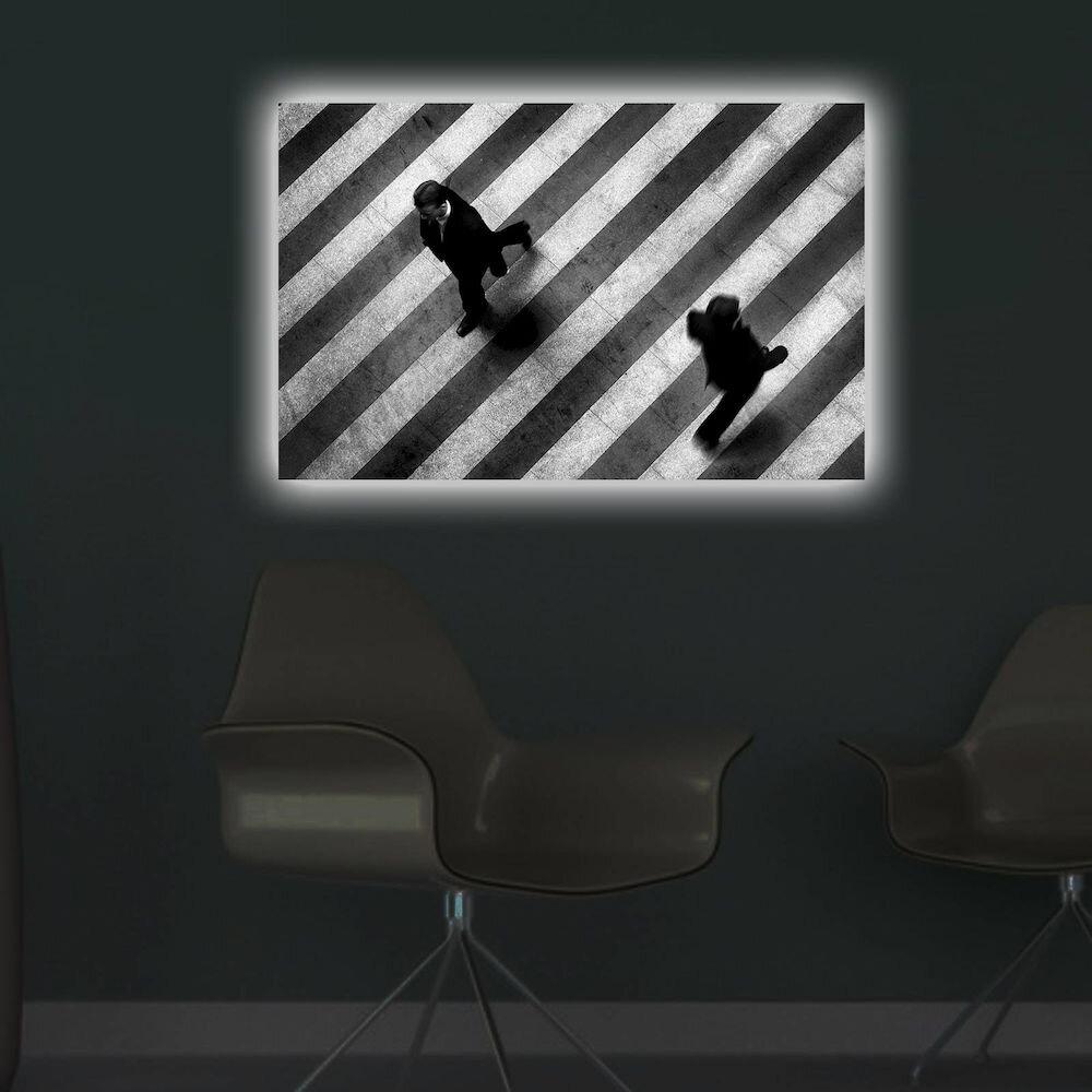 Tablou pe panza iluminat Shining, 239SHN3275, 45 x 70 cm, panza
