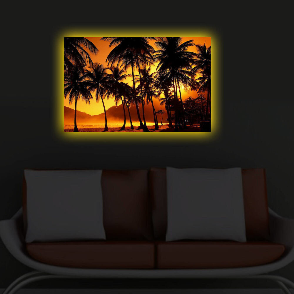 Tablou pe panza iluminat Shining, 239SHN3285, 45 x 70 cm, panza