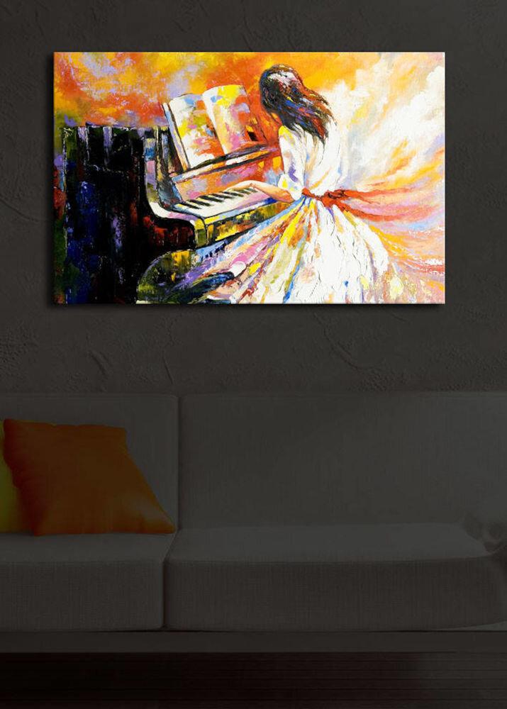 Tablou pe panza iluminat Shining, 239SHN1243, 45 x 70 cm, panza