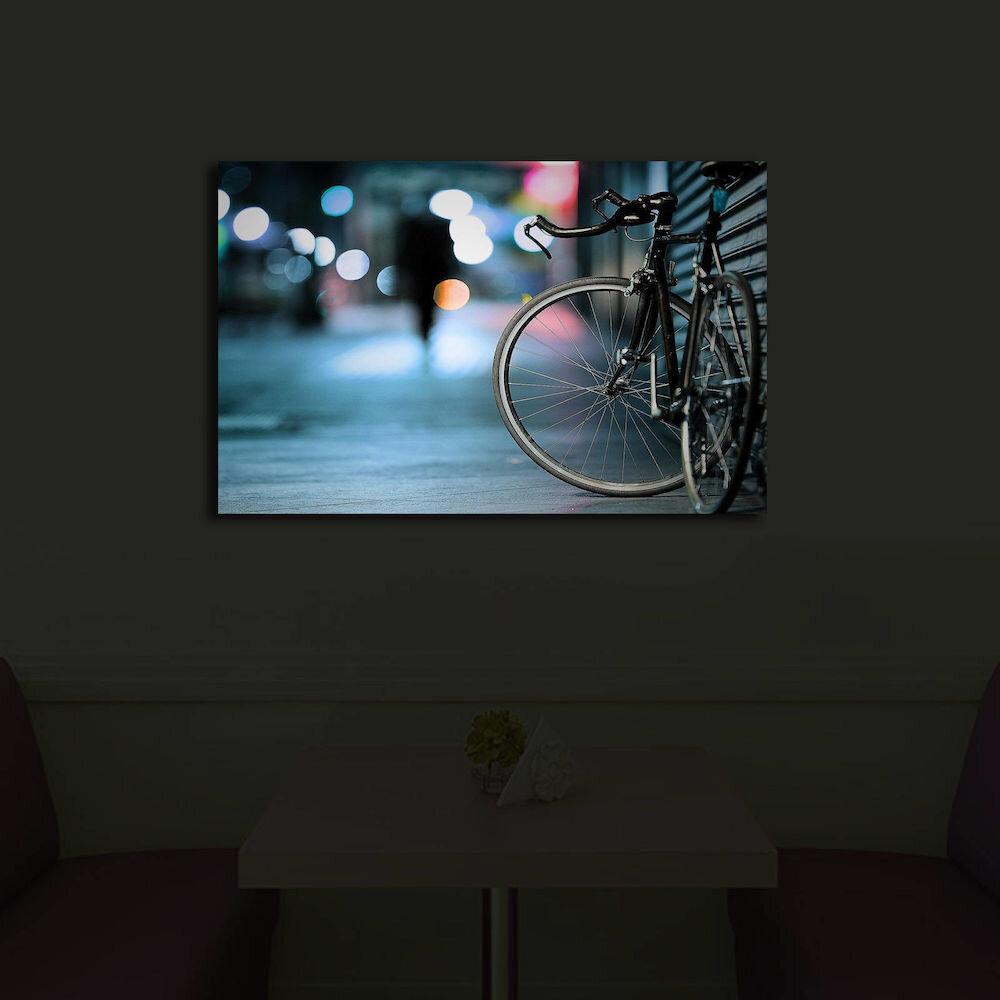 Tablou pe panza iluminat Shining, 239SHN3243, 45 x 70 cm, panza