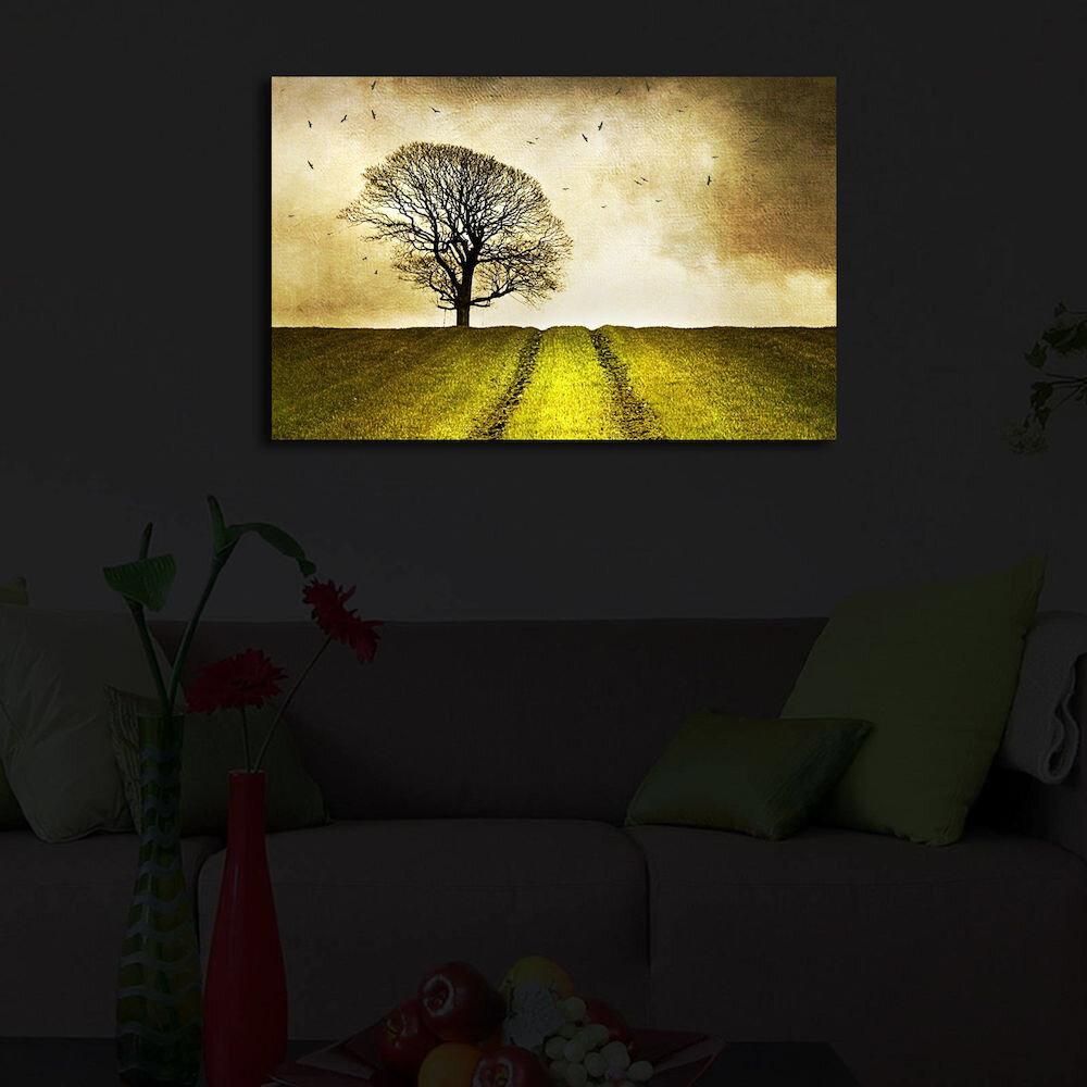 Tablou pe panza iluminat Shining, 239SHN3247, 45 x 70 cm, panza