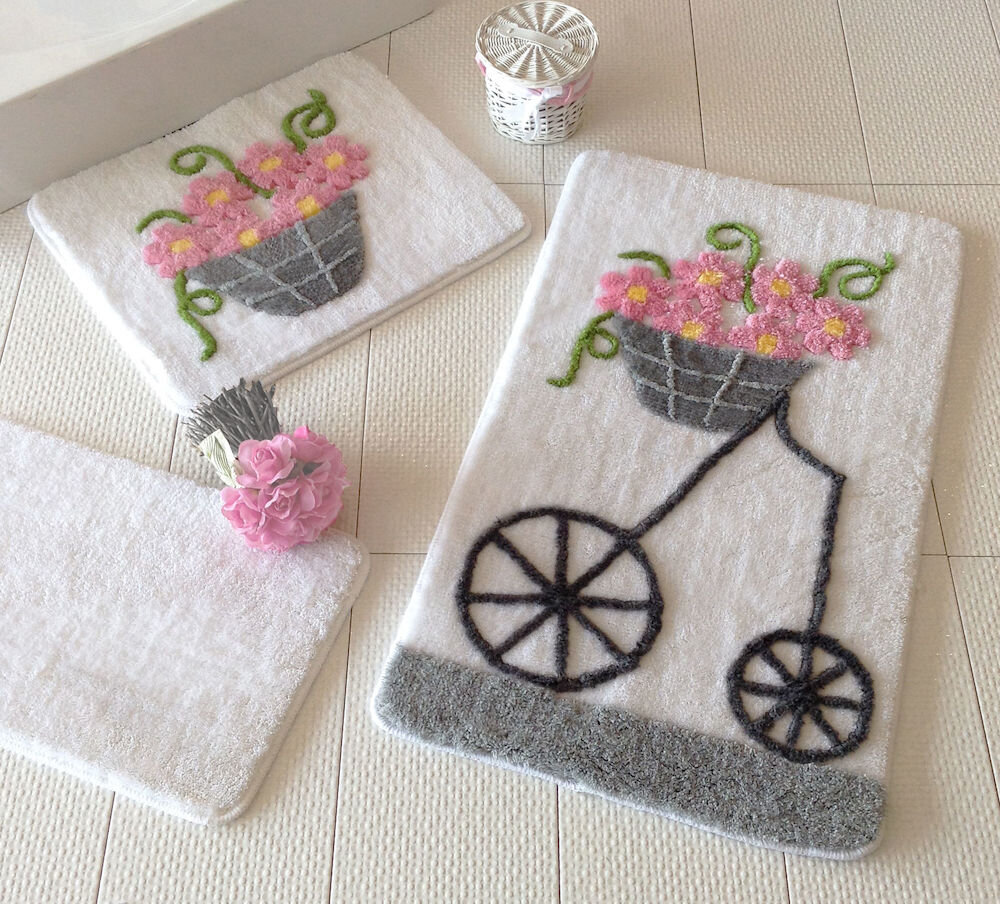 Set covorase baie Chilai Home by Alessia, 351ALS2012, 3 Piese, acril