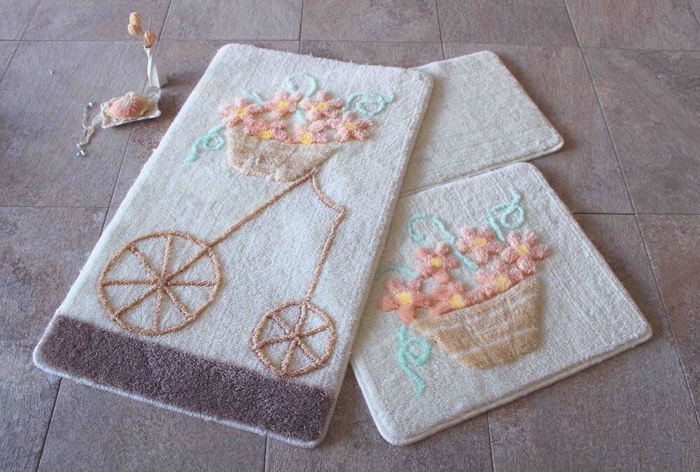 Set covorase baie Chilai Home by Alessia, 351ALS2064, 3 Piese, acril