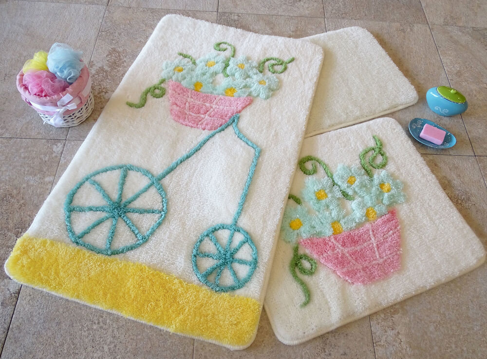 Set covorase baie Chilai Home by Alessia, 351ALS2013, 3 Piese, acril