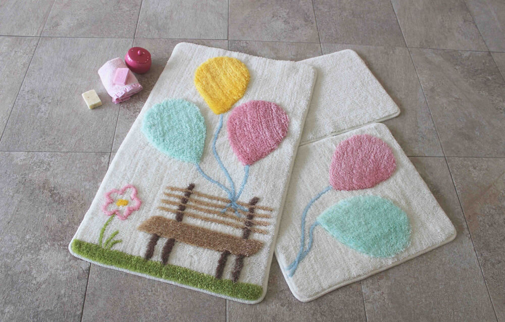 Set covorase baie Chilai Home by Alessia, 351ALS2053, 3 Piese, acril