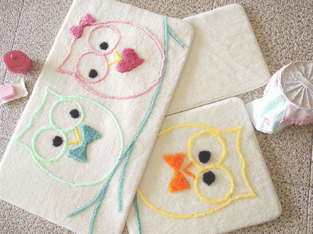 Set covorase baie Chilai Home by Alessia, 351ALS2038, 3 Piese, acril