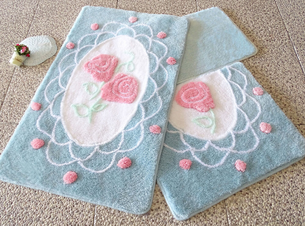 Set covorase baie Chilai Home by Alessia, 351ALS2034, 3 Piese, acril