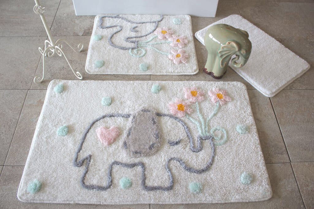 Set covorase baie Chilai Home by Alessia, 351ALS2086, 3 Piese, acril