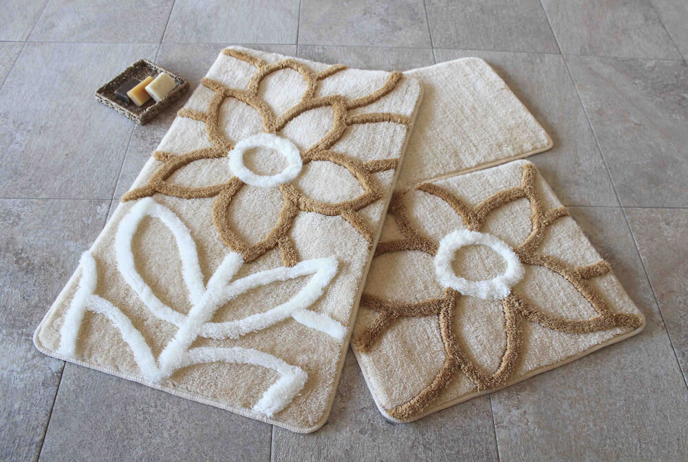 Set covorase baie Chilai Home by Alessia, 351ALS2059, 3 Piese, acril