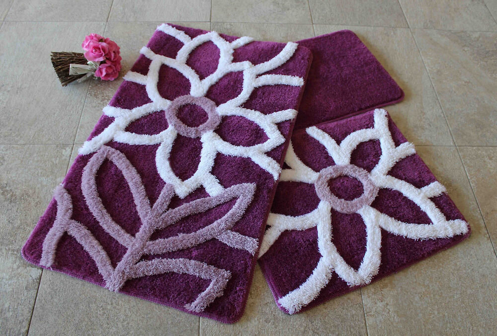 Set covorase baie Chilai Home by Alessia, 351ALS2057, 3 Piese, acril