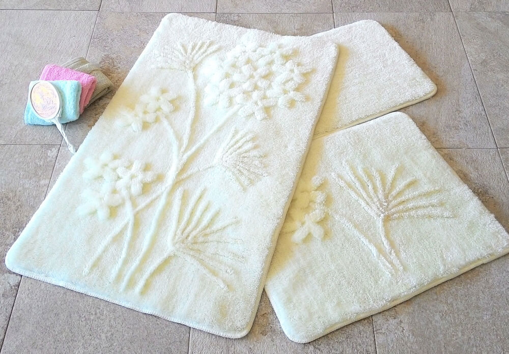Set covorase baie Chilai Home by Alessia, 351ALS2044, 3 Piese, acril