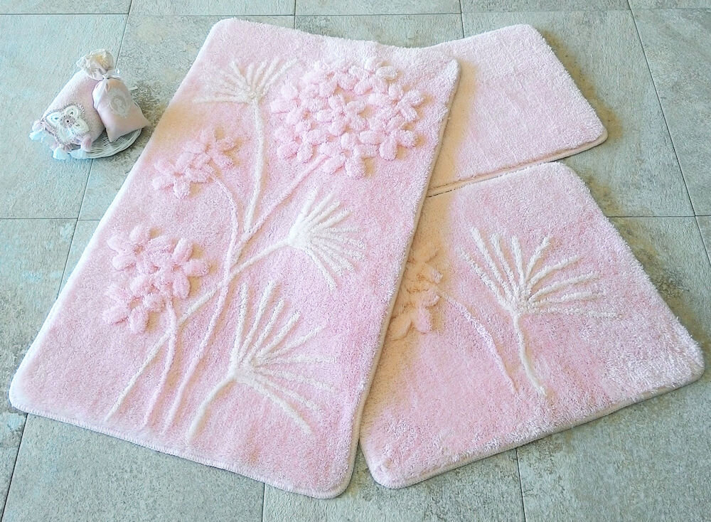 Set covorase baie Chilai Home by Alessia, 351ALS2045, 3 Piese, acril