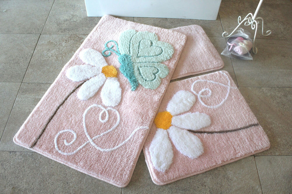 Set covorase baie Chilai Home by Alessia, 351ALS2088, 3 Piese, acril