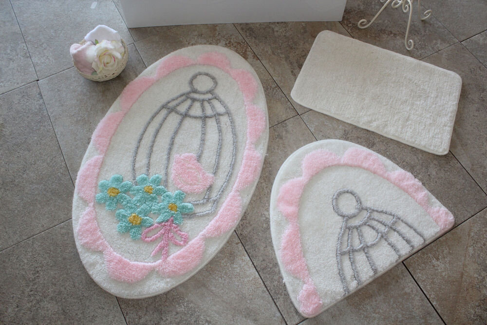 Set covorase baie Chilai Home by Alessia, 351ALS2116, 3 Piese, acril