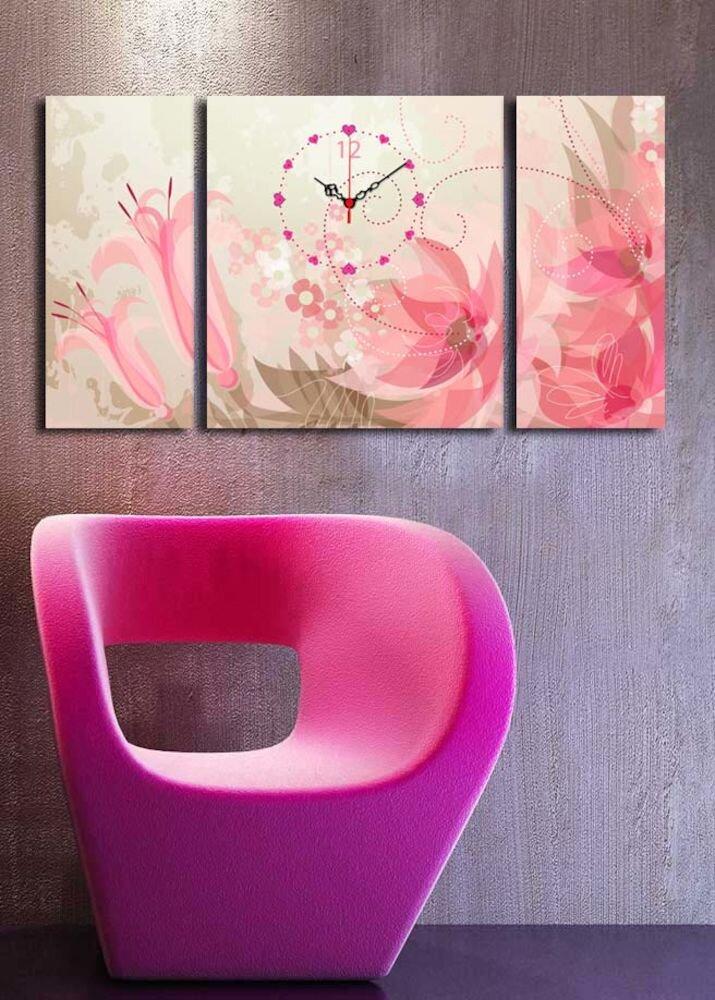 Ceas decorativ Clock Art, 228CLA3631, 3 Piese, panza
