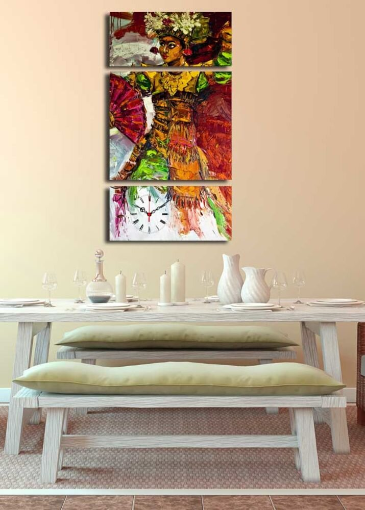 Ceas decorativ de perete Clock Art, 228CLA3629, 3 Piese, panza