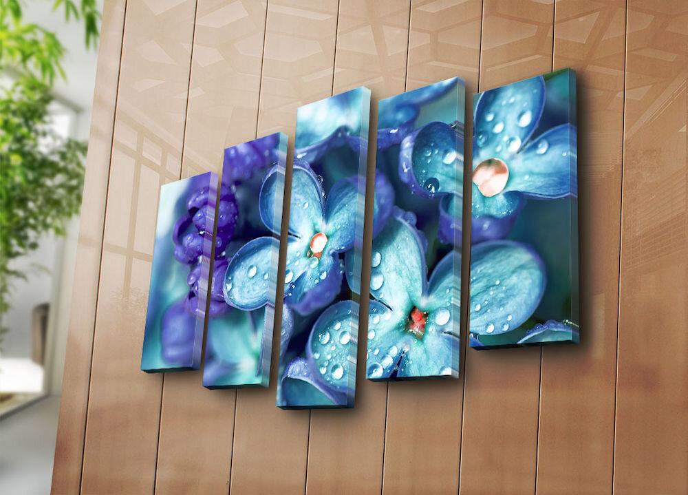 Tablou decorativ pe panza Bonanza, 242BNZ5211, 5 Piese, panza