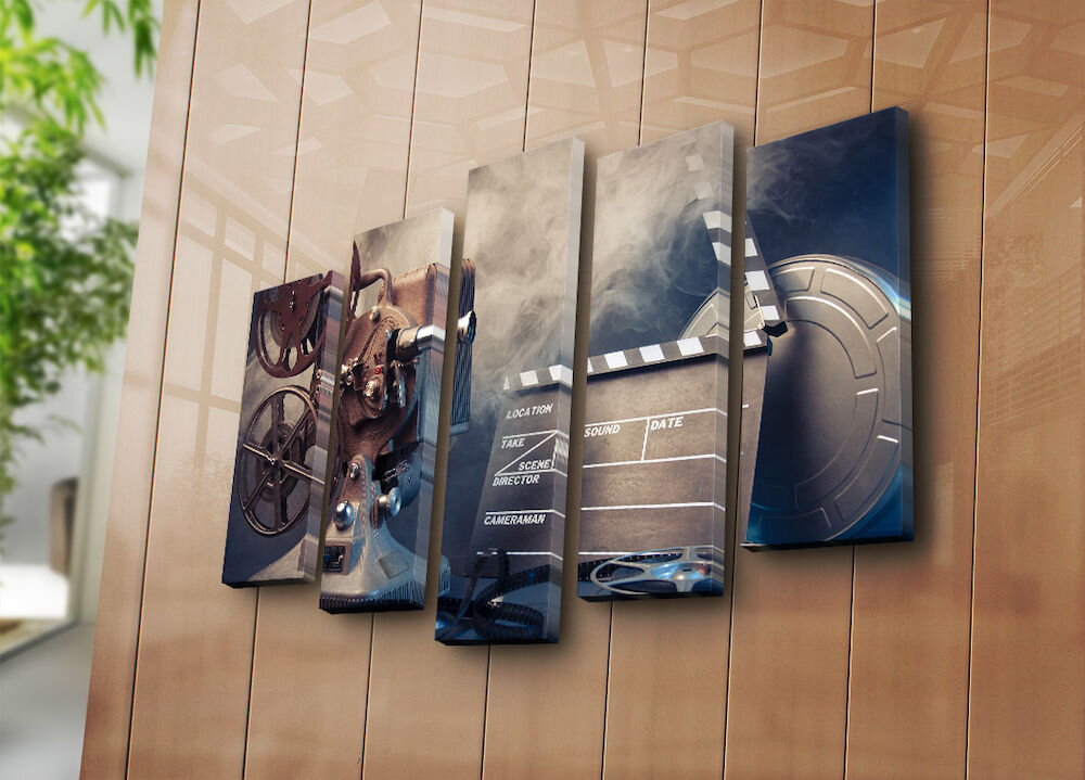 Tablou decorativ pe panza Bonanza, 242BNZ5215, 5 Piese, panza