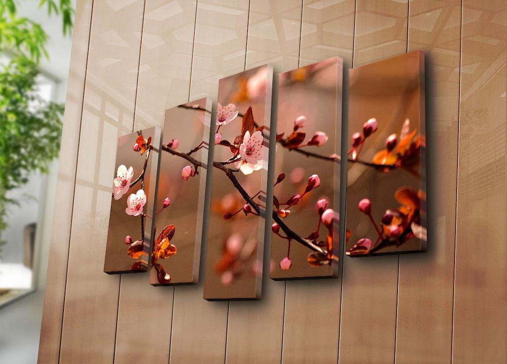 Tablou decorativ pe panza Bonanza, 242BNZ4228, 5 Piese, panza