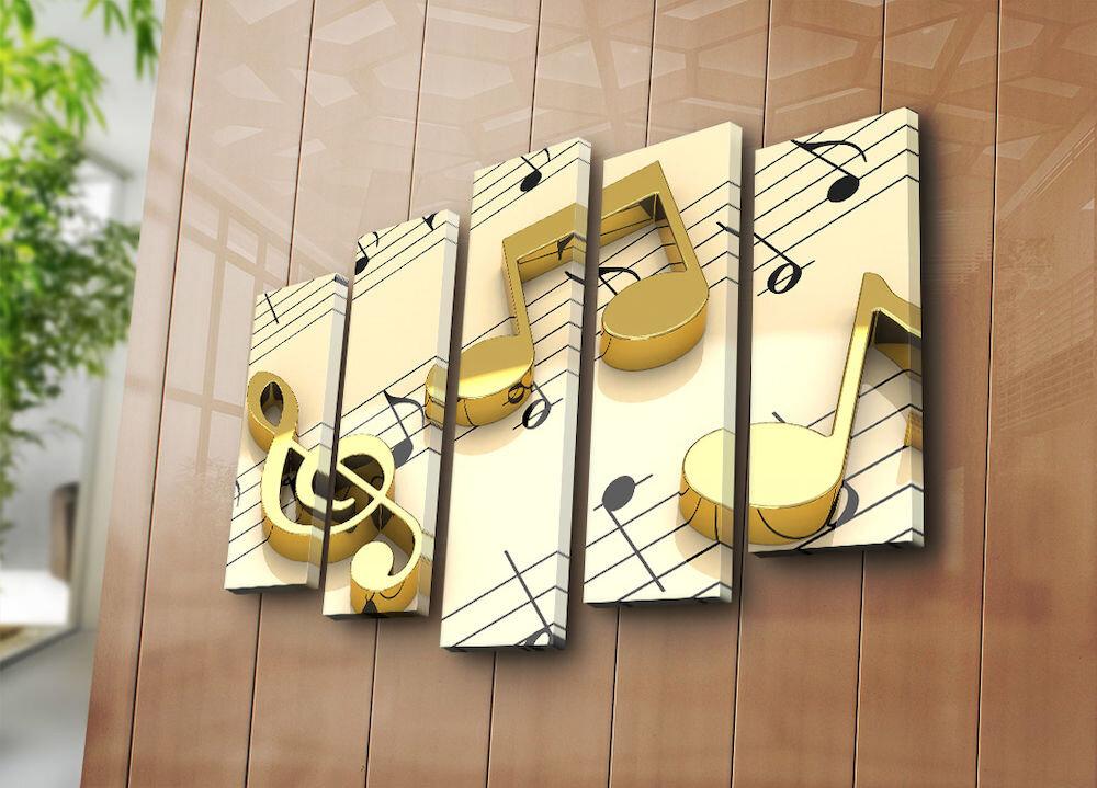 Tablou decorativ pe panza Bonanza, 242BNZ4250, 5 Piese, panza