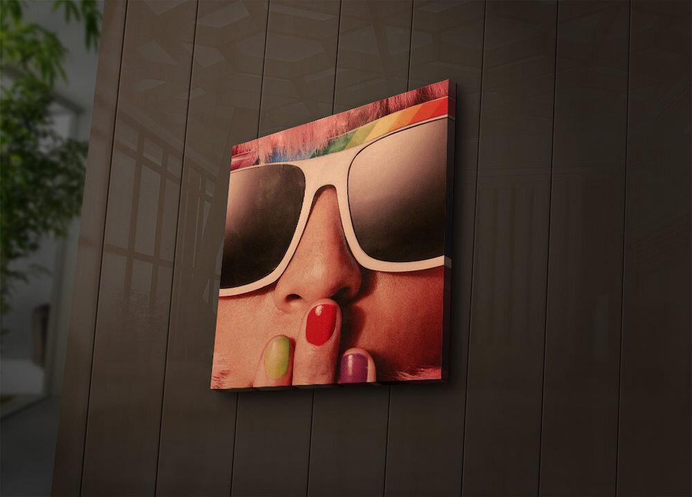 Tablou pe panza iluminat Ledda, 254LED3211, 40 x 40 cm, panza