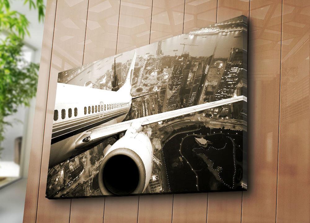 Tablou decorativ pe panza Horizon, 237HRZ5219, 70 x 100 cm, panza