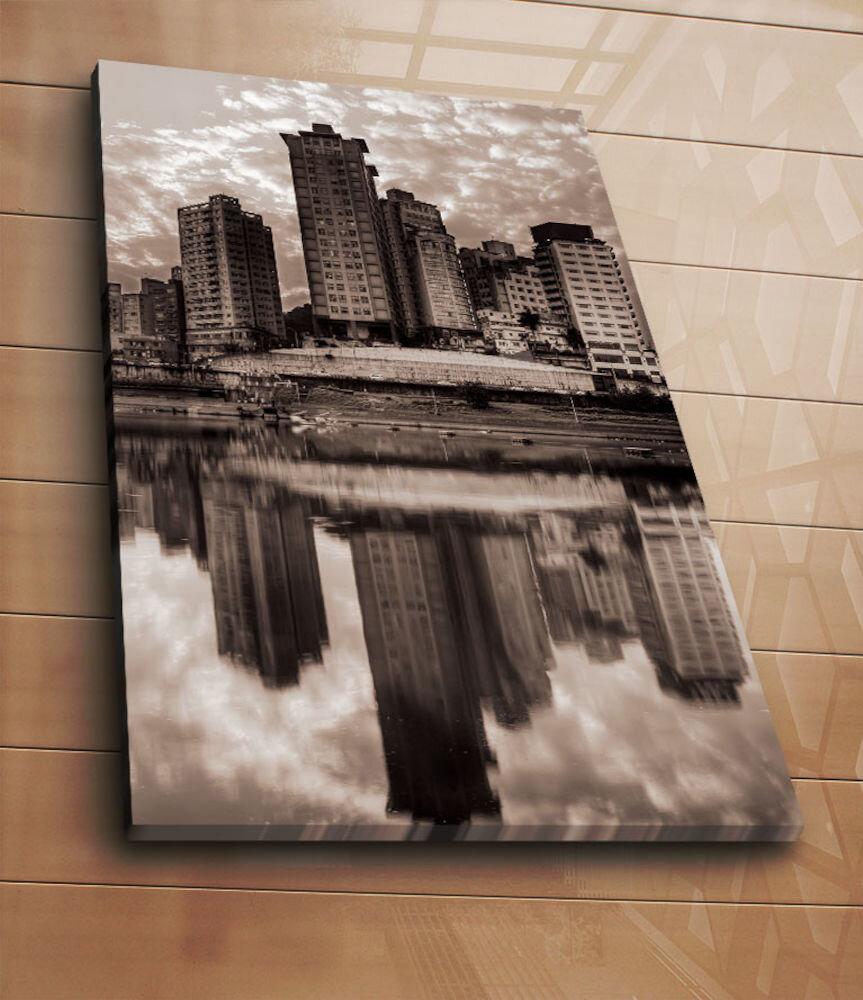 Tablou decorativ pe panza Horizon, 237HRZ5251, 70 x 100 cm, panza
