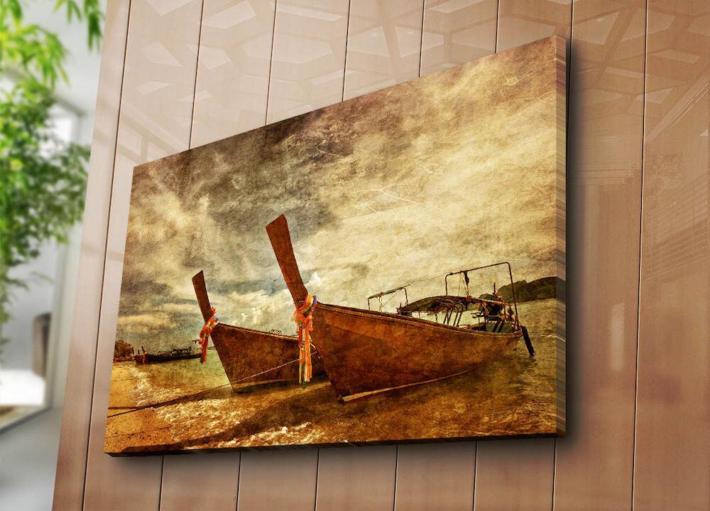 Tablou decorativ pe panza Horizon, 237HRZ5267, 70 x 100 cm, panza