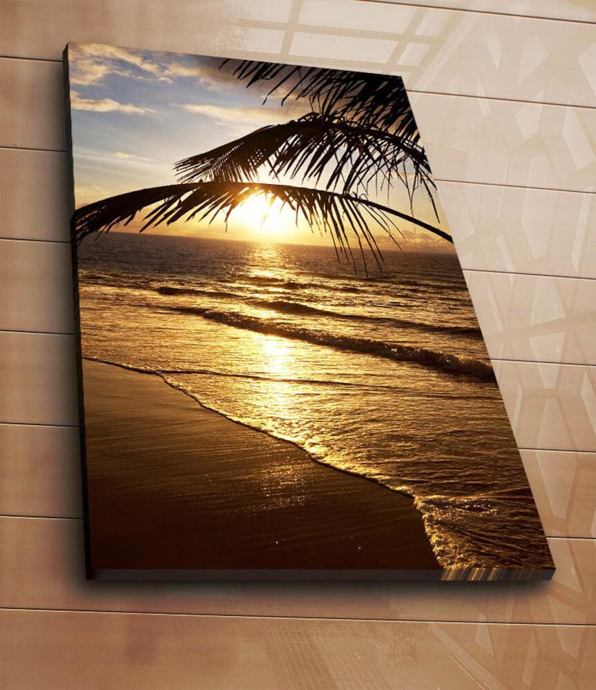 Tablou decorativ pe panza Horizon, 237HRZ5269, 70 x 100 cm, panza