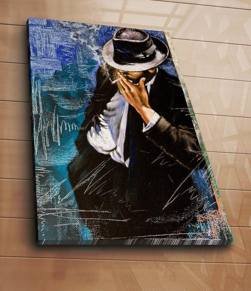 Tablou decorativ pe panza Horizon, 237HRZ5271, 70 x 100 cm, panza
