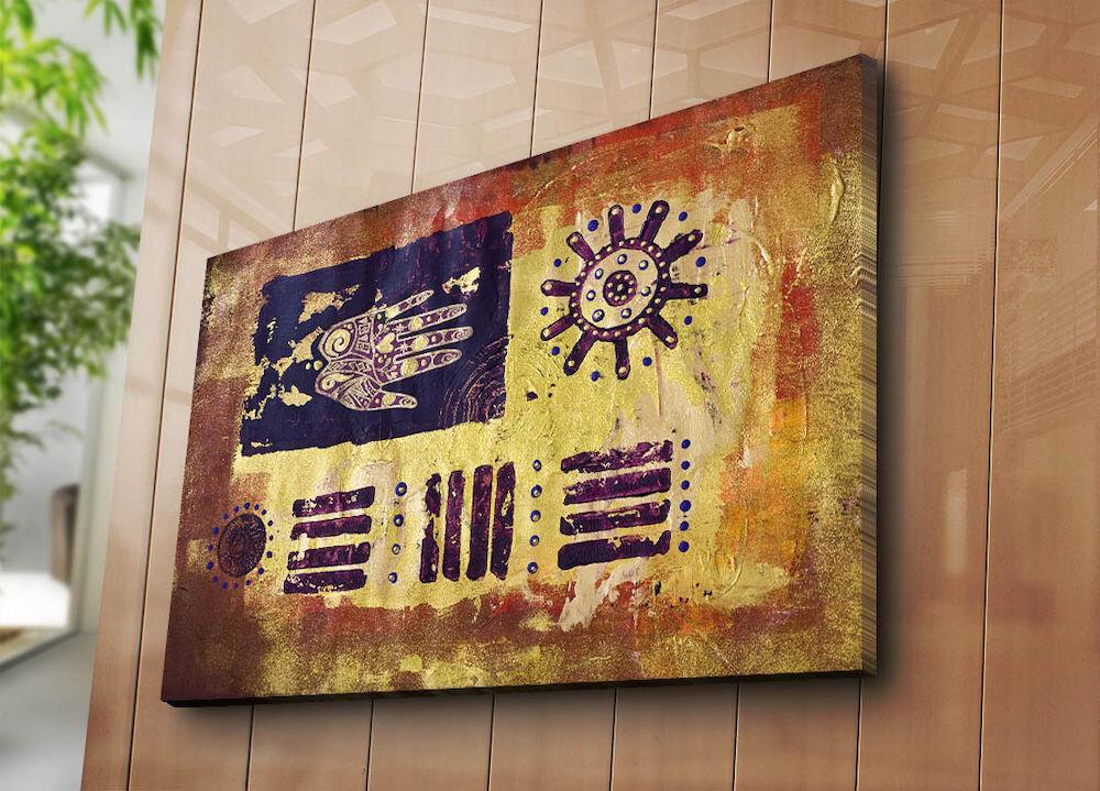 Tablou decorativ pe panza Horizon, 237HRZ5276, 70 x 100 cm, panza