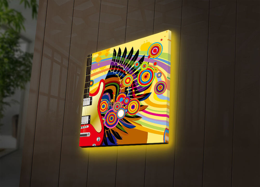 Tablou pe panza iluminat Ledda, 254LED4206, 28 x 28 cm, panza