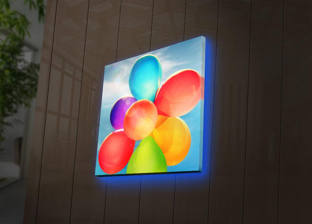 Tablou pe panza iluminat Ledda, 254LED4211, 28 x 28 cm, panza