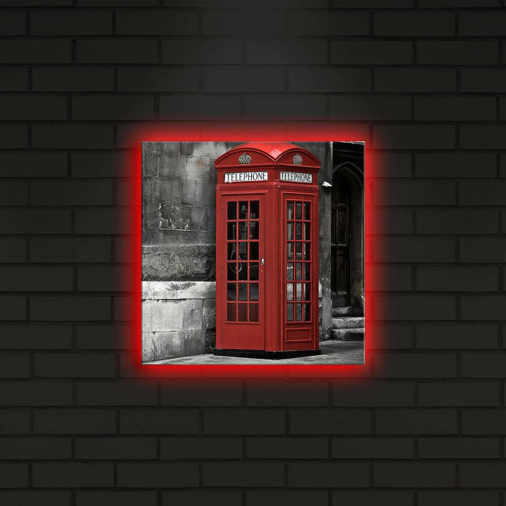 Tablou pe panza iluminat Shining, 239SHN4267, 28 x 28 cm, panza