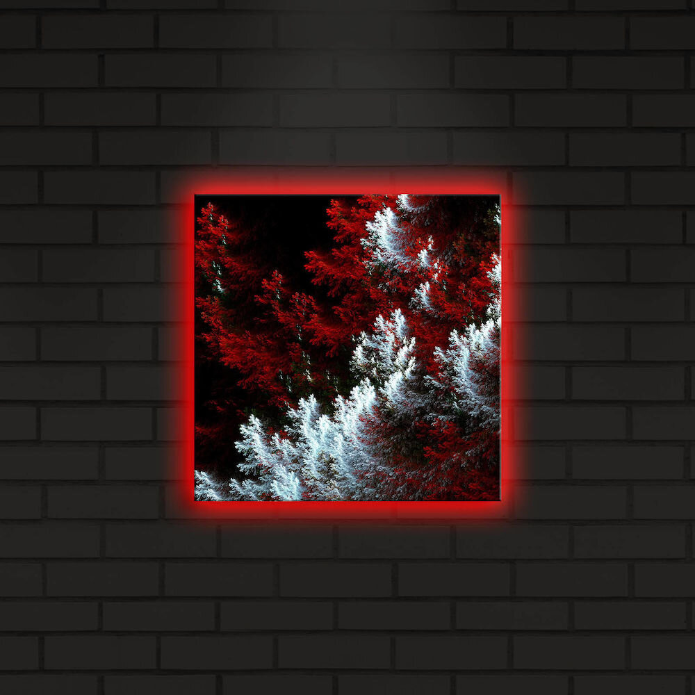 Tablou pe panza iluminat Shining, 239SHN4259, 28 x 28 cm, panza