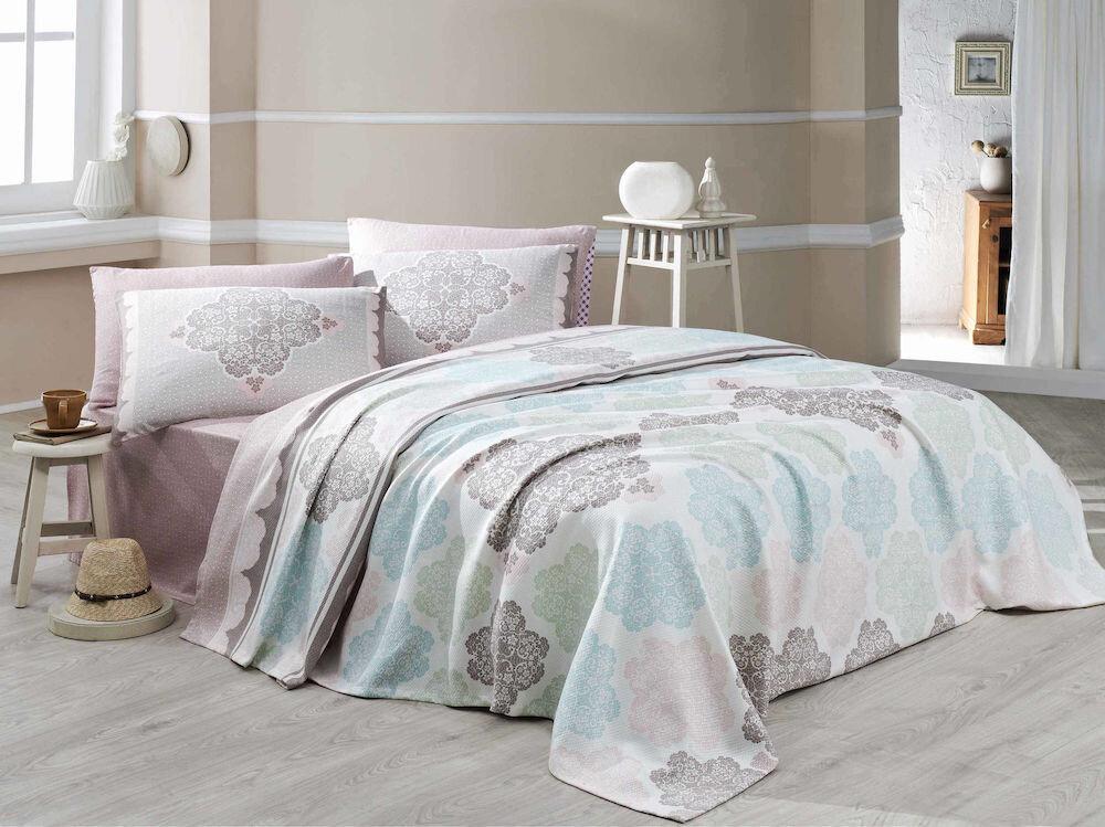 Set cuvertura pentru pat single Eponj Home, 143EPJ5318, bumbac