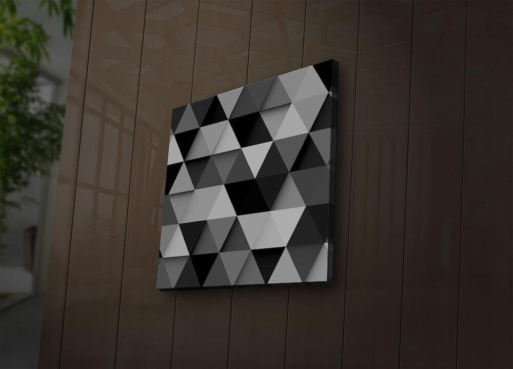 Tablou pe panza iluminat Ledda, 254LED1260, 28 x 28 cm, panza
