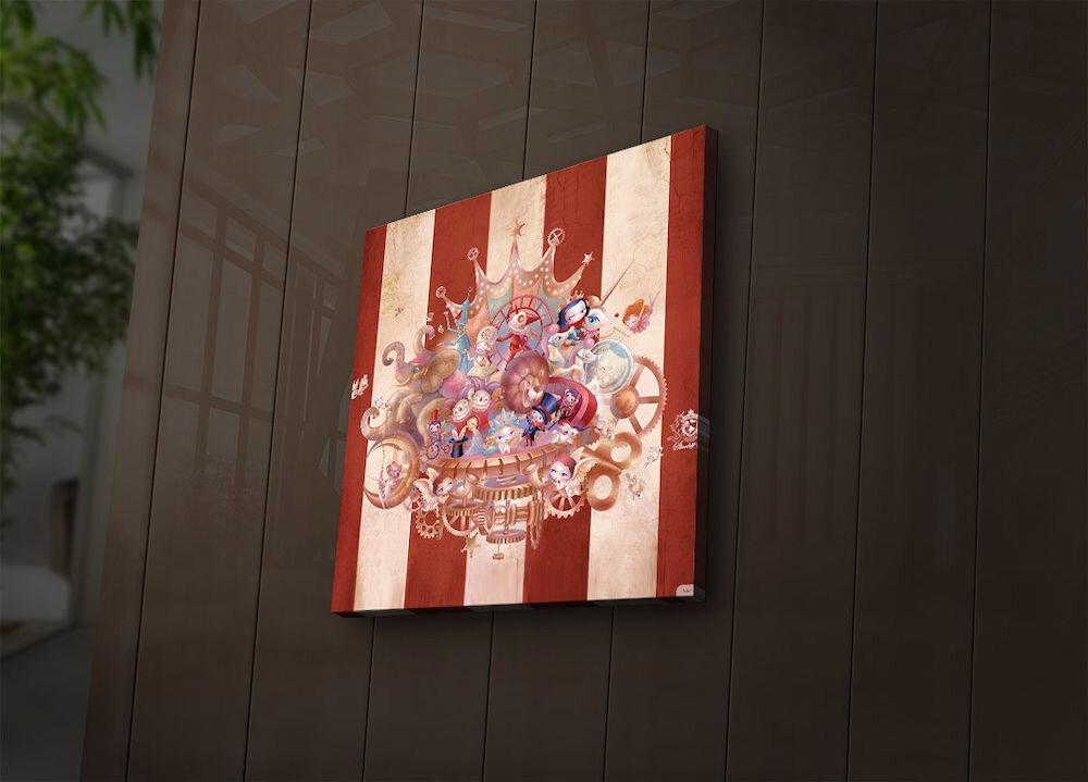 Tablou pe panza iluminat Ledda, 254LED1269, 28 x 28 cm, panza