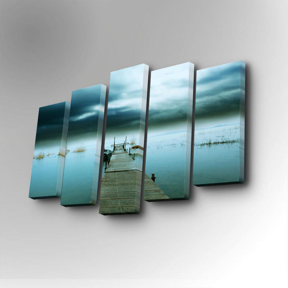 Tablou decorativ pe panza Art Five, 747AFV1219, 5 Piese, panza
