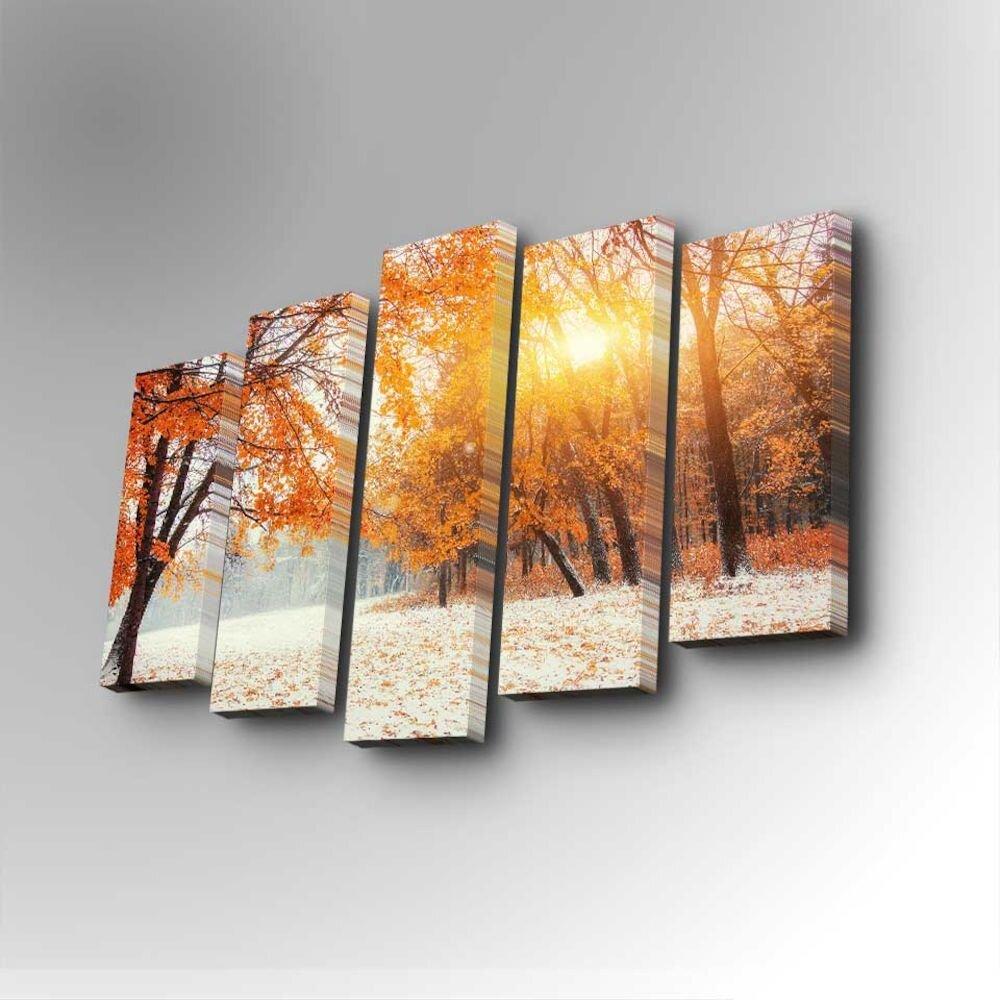 Tablou decorativ pe panza Art Five, 747AFV1232, 5 Piese, panza
