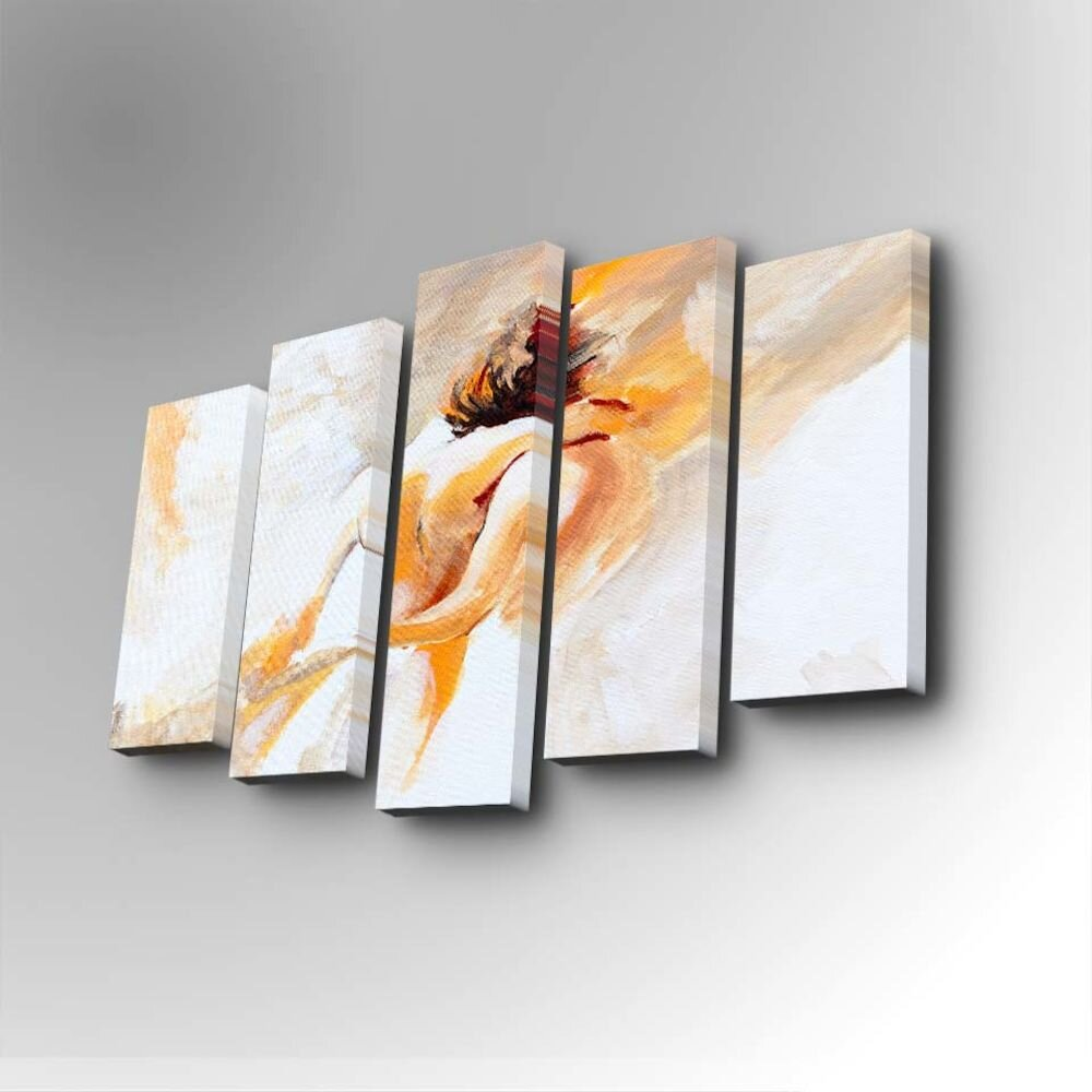 Tablou decorativ pe panza Art Five, 747AFV1238, 5 Piese, panza