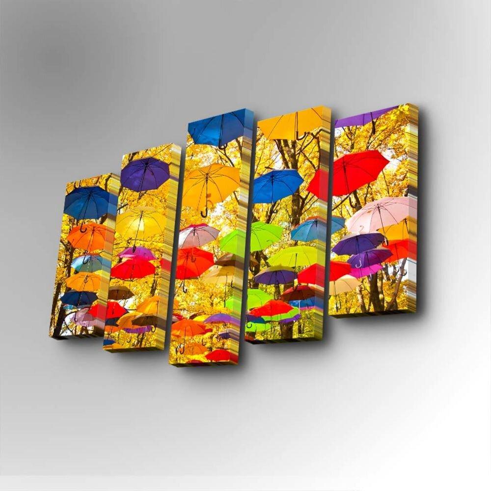 Tablou decorativ pe panza Art Five, 747AFV1251, 5 Piese, panza