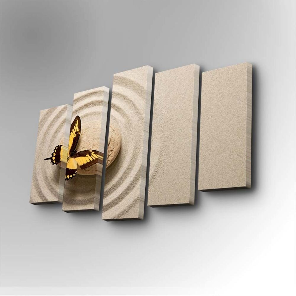Tablou decorativ pe panza Art Five, 747AFV1243, 5 Piese, panza
