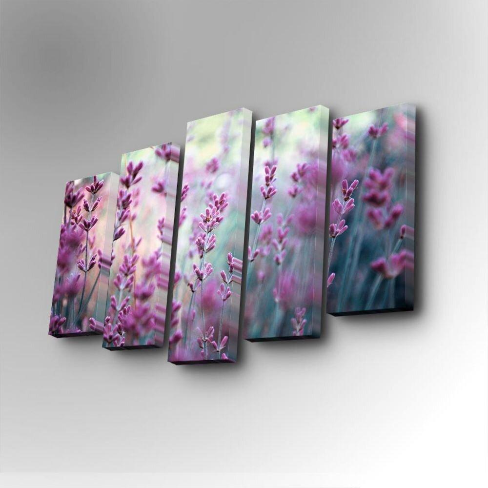Tablou decorativ pe panza Art Five, 747AFV1253, 5 Piese, panza