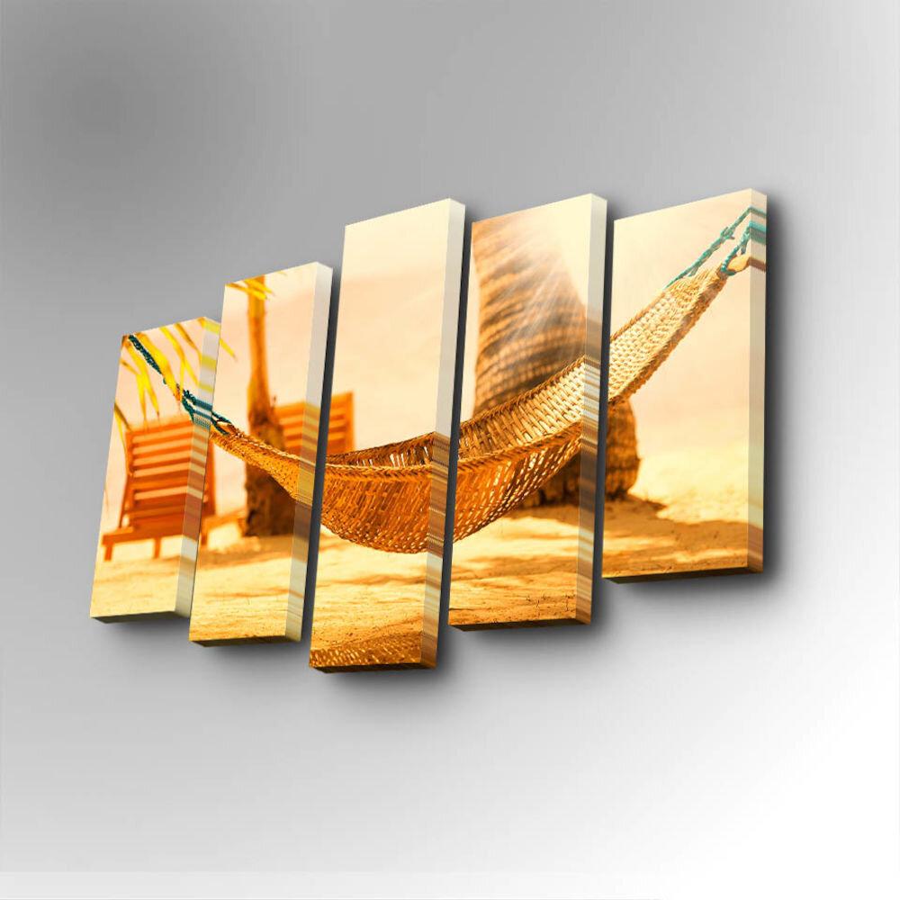 Tablou decorativ pe panza Art Five, 747AFV1257, 5 Piese, panza
