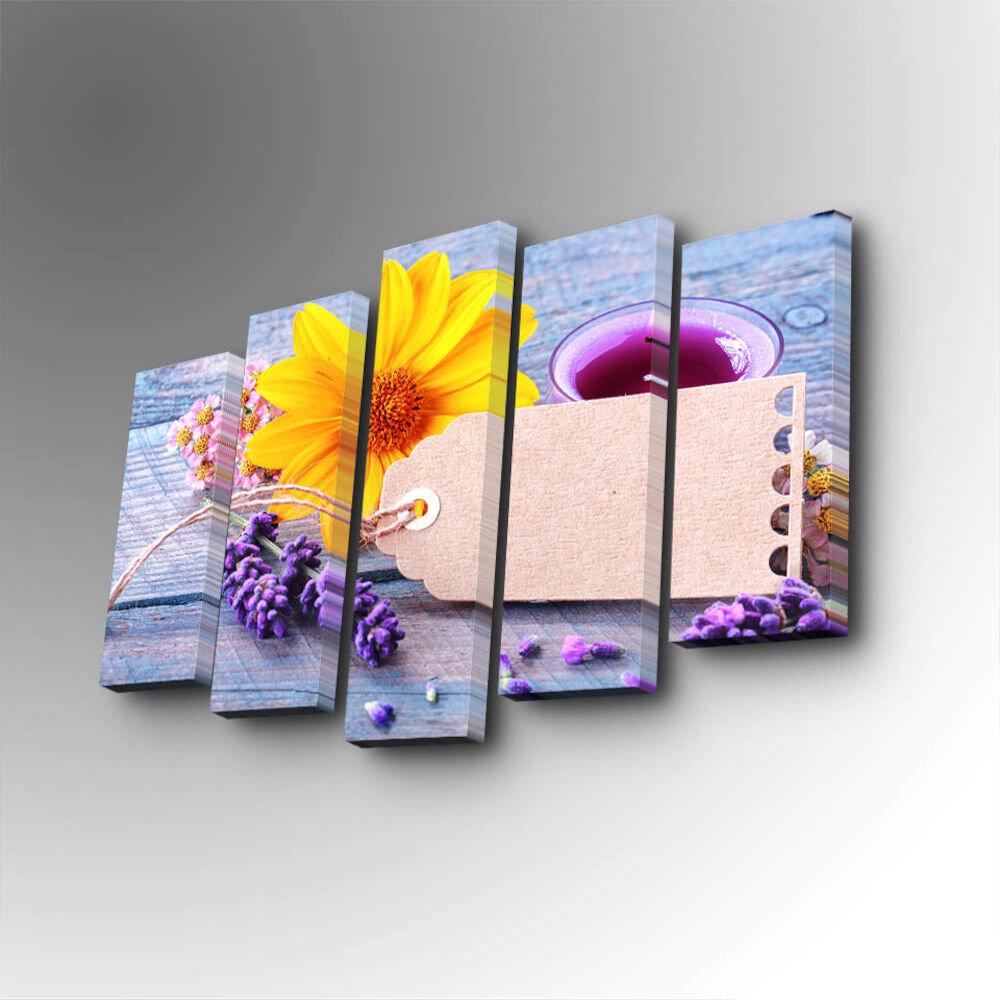 Tablou decorativ pe panza Art Five, 747AFV1306, 5 Piese, panza