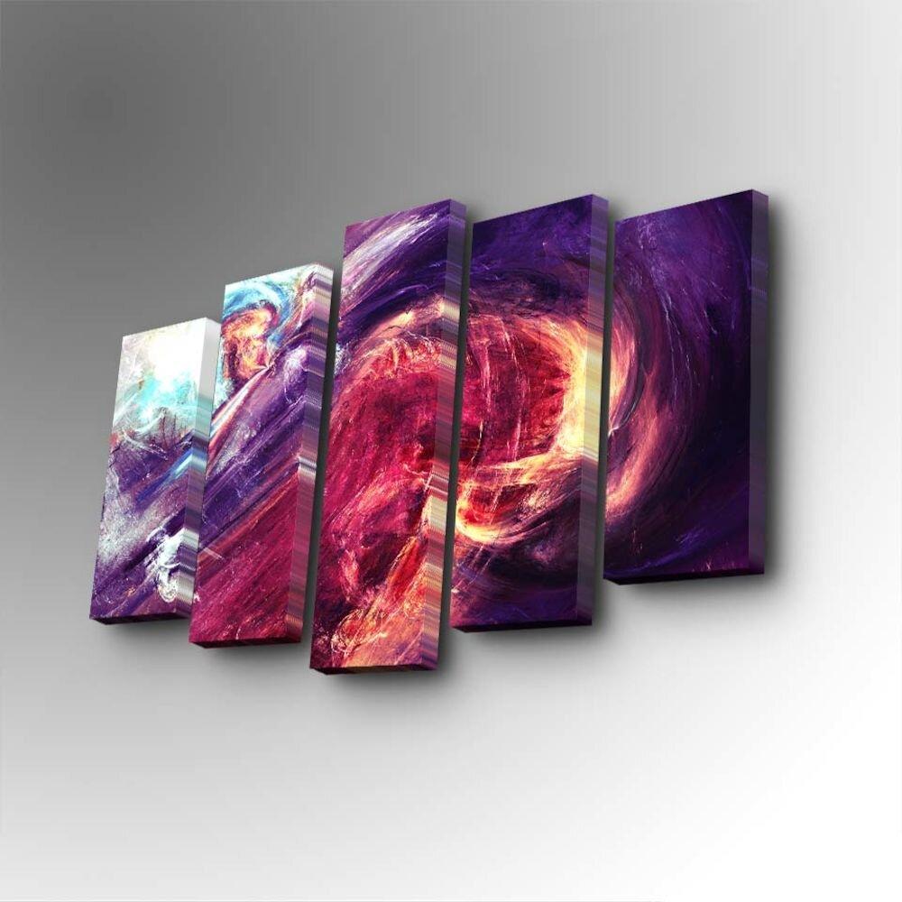 Tablou decorativ pe panza Art Five, 747AFV1311, 5 Piese, panza
