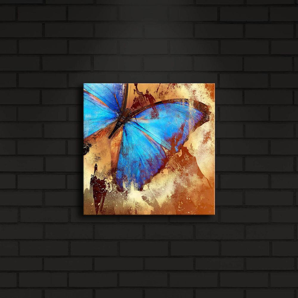 Tablou pe panza iluminat Shining, 239SHN4218, 28 x 28 cm, panza
