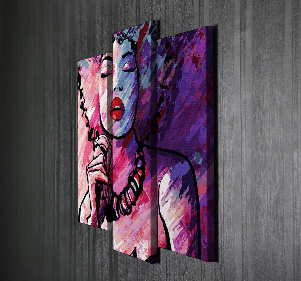 Tablou decorativ pe panza Majestic, 257MJS1288, 3 Piese, panza