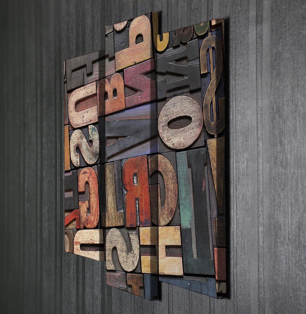 Tablou decorativ pe panza Symphony, 762SYM1272, 3 Piese, panza